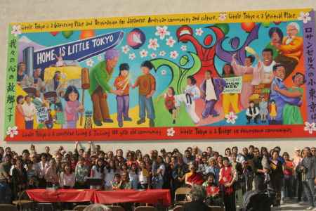 Little tokyo service center Unveiled community mural in 2005