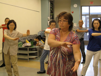 Tai chi classes by little tokyo service center held in FEL