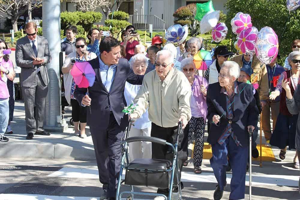 Little tokyo service center organized a parade with senior citizen