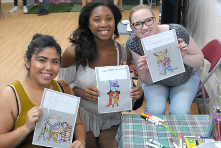 Coloring class by little tokyo service center held in FEL