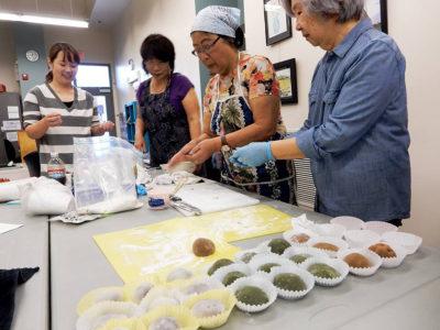 Making mochi class by little tokyo service center held in FEL