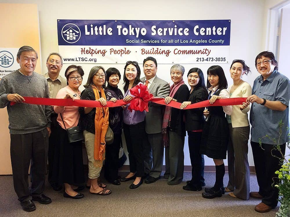 Ribbon cutting event for little tokyo service center South Bay office