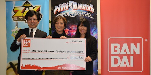 Bandai Foundation and Little Tokyo Service Center Donation