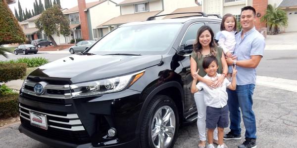 West Covina Family Wins Toyota Highlander