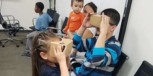 Youth Participate in Virtual Reality Workshops