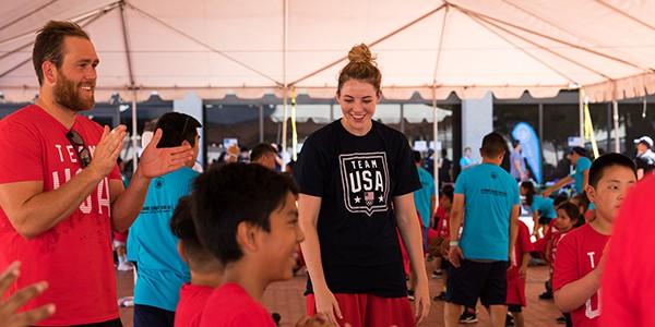 US Olympic Athletes Inspire Youth