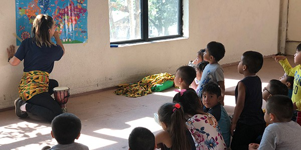 Angelina Preschool Students Learn About Africa