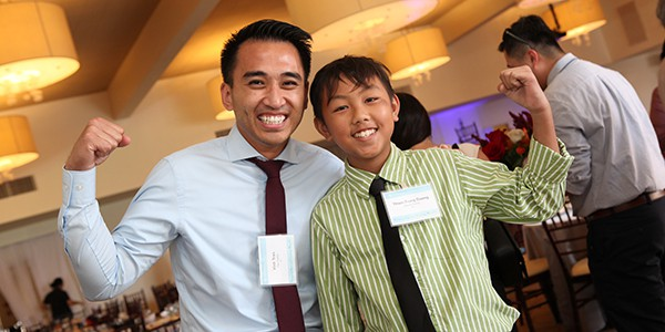 Marrow donor Vinh Tran and recipient Thien-Trung Duong