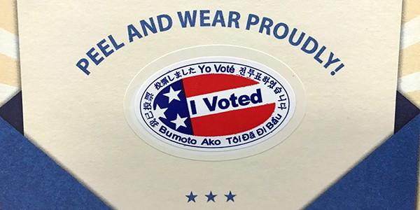 I Voted campaign for November LTSCene Newsletter