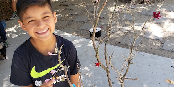 LTSC Youth Participate in Sculptural Tree Workshop