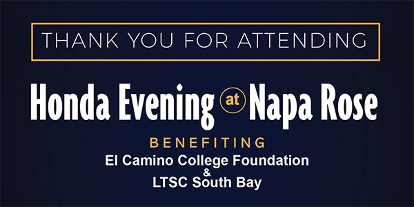 Thank You for Supporting LTSC at Napa Rose