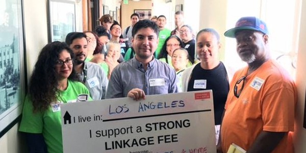 LTSC and other Coalition for a Just Los Angeles members visited City Council