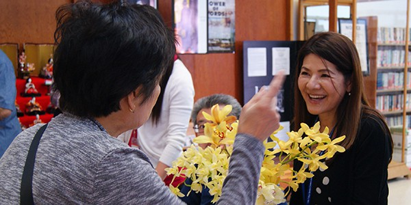 LTSC staff members greet visitors in the South Bay.