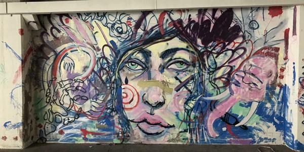 Community art in the VIDA building