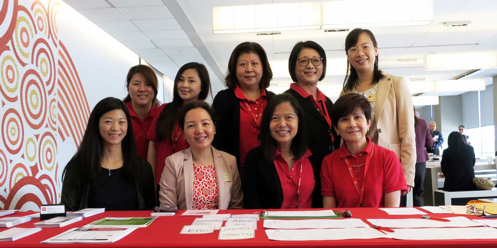 PI SBP business counselors and Cathay Bank representatives