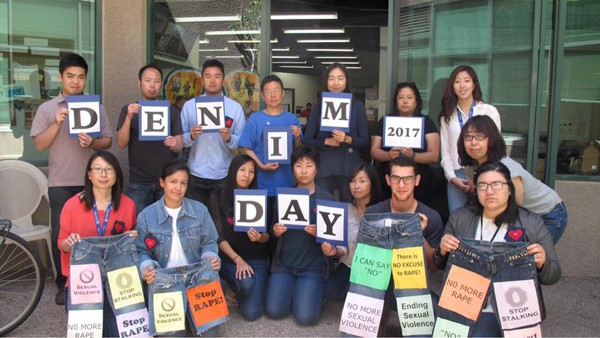 LTSC staff wear denim to protest sexual violence