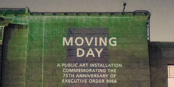 Moving Day projection at the Japanese American National Museum