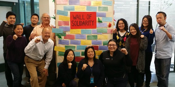 LTSC Proudly Displays Wall of Solidarity