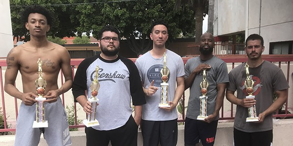 3-on-3 basketball tournament for residents of the Angelina Apartments