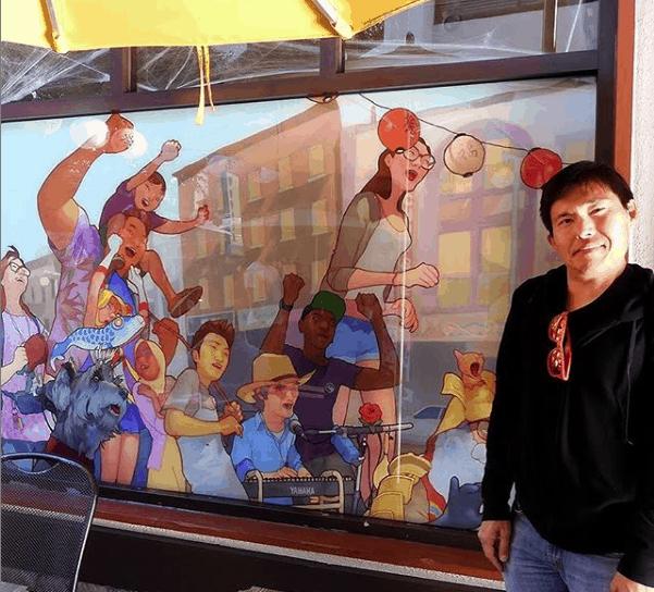 Artist Edwin Ushiro
