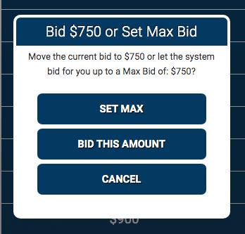 Setting a bid