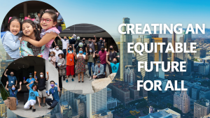title text: creating an equitable future for all