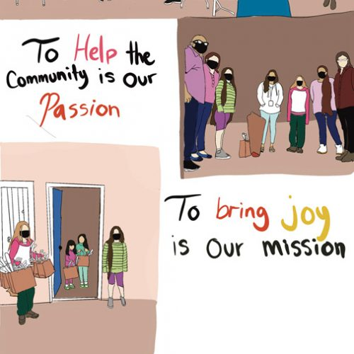 various pictures of ltsc staff helping community members, with text,