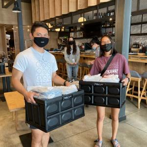 volunteers at sake dojo